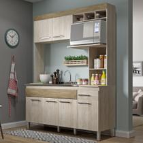 Cozinha Compacta 6 Portas 1 Gaveta Cv6010 Malbec/Wood- Decibal Móveis -