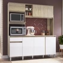 Cozinha Compacta 7 Portas 1 Gavetas Anis Malbec/branco - Decibal Móveis -