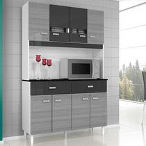Cozinha Compacta 8 Portas e 2 Gavetas Manu - Poquema - Estoque proprio