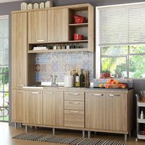 Cozinha Compacta 8 Portas para Pia Com Balcão 5812 Argila - Multi móveis