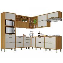 Cozinha Compacta 9 Peças C/ Torre Quente Imperatriz-Nesher Móveis -