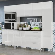 Cozinha Compacta 9 Portas 3 Gavetas Alice 0429t Branco - Genialflex moveis