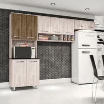 Cozinha Compacta 9 Portas Milena Somopar Saara/Nero -