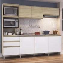 Cozinha Compacta Alecrim 7 Portas 2 Gavetas Malbec/branco - Decibal Moveis -