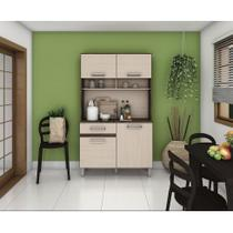 Cozinha Compacta B109 04 Portas 01 Gaveta Briz - Moka/Fendi -
