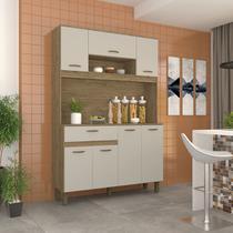 Cozinha Compacta B114 Briz 7 Portas 1 Gaveta -