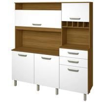 Cozinha Compacta com 5 Portas e 2 Gavetas Smart-Nesher Móveis -