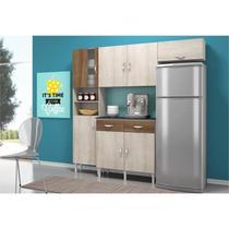 Cozinha Compacta com Balcão 02 Portas Talita Naturaly/Terraro - MoveMax -