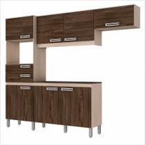 Cozinha Compacta com balcão 7 Portas e 2 Gavetas - B107 Briz -