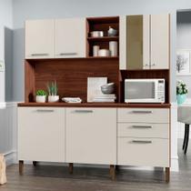 Cozinha Compacta com Tampo 7 Portas 2 Gavetas Mega Kits Paraná - Kits Parana