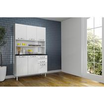 Cozinha Compacta em Aço Safira 6 Portas 2 Gavetas com Tampo Telasul -