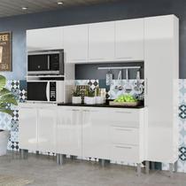 Cozinha Compacta Genialflex Alice Branca Com Tampo -