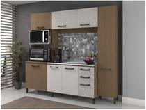 Cozinha Compacta Kappesberg Soft com Balcão - Nicho para Forno e Micro-ondas 7 Portas 3 Gavetas