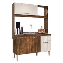 Cozinha Compacta Katy 3 P. 1 G. Cor Itaúba - Mega Móveis - IRM - Mega Móveis