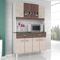 Cozinha Compacta Kit Manu 8 Portas 2 Gavetas em MDP Poquema -