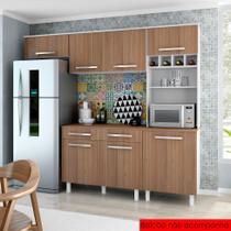 Cozinha Compacta Lorena 5 PT Branco e Montana - Madine