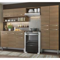 Cozinha Compacta Madesa Emilly Com Armário e Balcão -