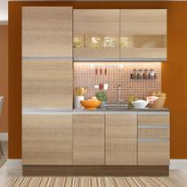 Cozinha Compacta Madesa Ester 7 Portas 3 Gavetas (Sem Tampo e Pia) -