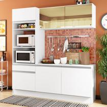 Cozinha Compacta Madesa Glamy Ester 7 Portas 3 Gavetas (Sem Tampo e Pia) -