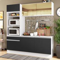 Cozinha Compacta Madesa Glamy Laura 7 Portas 3 Gavetas (Sem Tampo e Pia) -