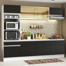 Cozinha Compacta Madesa Glamy Lívia 6 Portas 2 Gavetas (Sem Tampo e Pia) -