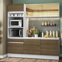 Cozinha Compacta Madesa Glamy Lorena 7 Portas 3 Gavetas (Sem Tampo e Pia) -