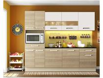 Cozinha Compacta Madesa Glamy Rubi com Balcão - 10 Portas 2 Gavetas