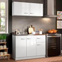Cozinha Compacta Madesa Isabel com Armário e Balcão (Sem Tampo e Pia) -