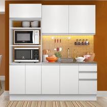 Cozinha Compacta Madesa Laura 7 Portas 3 Gavetas (Sem Tampo e Pia) -