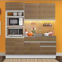 Cozinha Compacta Madesa Lívia 6 Portas 2 Gavetas (Sem Tampo e Pia) -