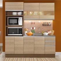 Cozinha Compacta Madesa Lorena 7 Portas 3 Gavetas (Sem Tampo e Pia) -