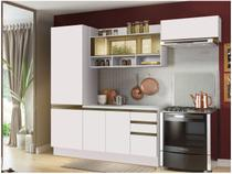 Cozinha Compacta Madesa New Glamy - com Balcão 7 Portas 2 Gavetas Com Vidro Reflecta