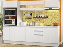 Cozinha Compacta Madesa Smart G200730909 - com Balcão 12 Portas 2 Gavetas MDF