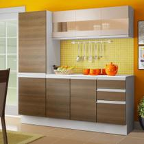 Cozinha Compacta Madesa Smart Modulada Com Armário, Balcão e Tampo 100 MDF -