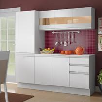 Cozinha Compacta Madesa Smart Modulada Com Armário, Balcão e Tampo -