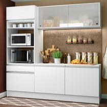 Cozinha Compacta Madesa Topazio com Balcão e Tampo -