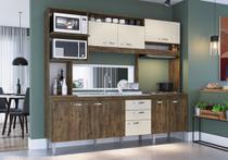 Cozinha Compacta Marília 08 Portas 02 Gavetas Itauba Off White-IRM -