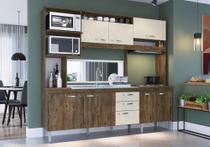 Cozinha Compacta Marília 8 P. 2 G. Itauba/Off - Mega Móveis - IRM - Mega Móveis