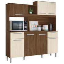 Cozinha Compacta Moval Lages 7 Portas Castanho Nogueira -