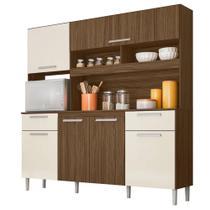 Cozinha Compacta Moval Olinda 6 Portas Castanho Baunilha -
