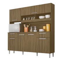 Cozinha Compacta Moval Olinda 6 Portas Castanho -