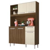 Cozinha Compacta Moval Prado 5 Portas Castanho Nogueira -