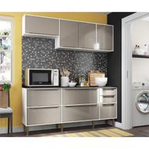 Cozinha Compacta Multimóveis New Paris 2836.892 - com Balcão 8 Portas 3 Gavetas -