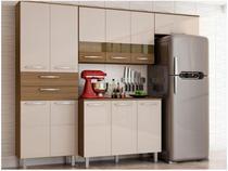 Cozinha Compacta Poliman Mel 8 Portas - 2 Gavetas