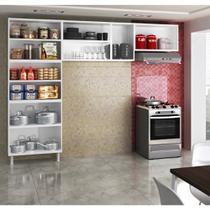 Cozinha Compacta Safira em Aço 3 Peças com 3 vidros Telasul -