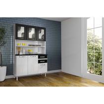 Cozinha Compacta Safira em aço 6 Portas 2 Gavetas com Tampo Telasul -