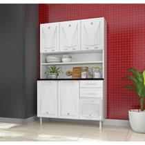 Cozinha Compacta Star em Aço 6 Portas 2 Gavetas com Tampo Telasul -