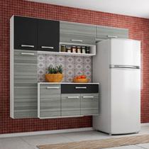 Cozinha Compacta Suspensa com Balcão Anita 08 Portas Branco - Poquema -