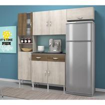 Cozinha Compacta Tallita Com Balcão Terraro Nat Movemax -