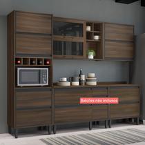 Cozinha Compacta Thela Canela 3 Peças Nogueira -